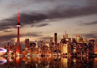 Wall Murals Toronto Toronto Skyline at sunset, Ontario, Canada