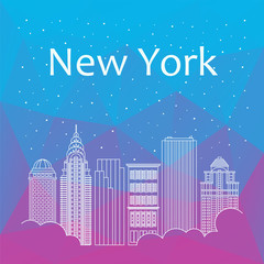 New York for banner, poster, illustration, game, background.