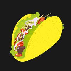 Vector Symbol Taco Fast Food