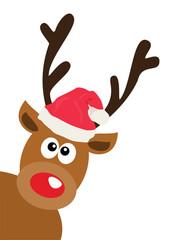 Vector Funny Christmas Deer