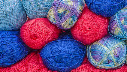 Wool colourful, cotton