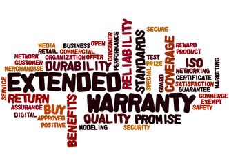 Extended Warranty, word cloud concept 6