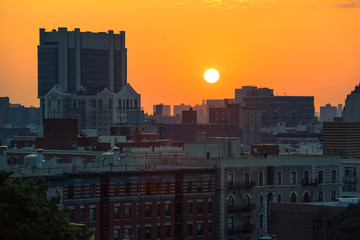 Sunrise over Harlem, NYC