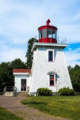 Small wooden lighthouse of New-Brunswick