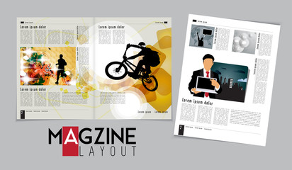 Magazine layout design. Vector easy to editable