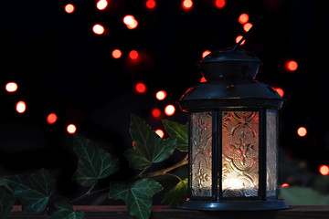 Christmas lamp in the night