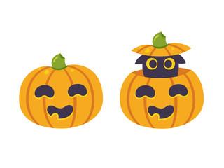 Halloween pumpkin with cat