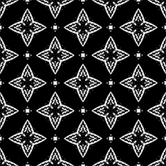 Ornament with elements of black and white colors. 12
