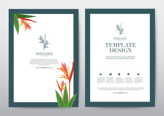 Spa Wellness Medical topic Template elements, Presentation, brochure.