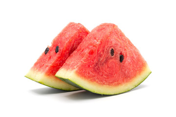 slices of watermelon isolated on a white background