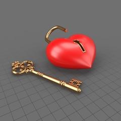 Valentine's Lock Heart