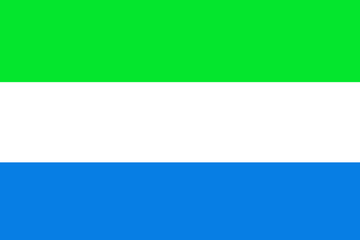 Sierra Leone flag ,Sierra Leone national flag illustration symbol.
