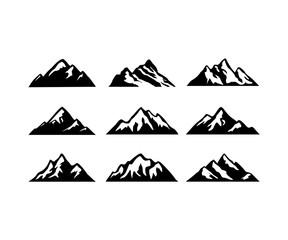 Silhouette Mountain Logo Design
