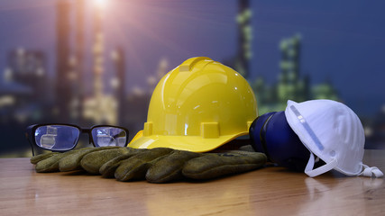 Security functions in construction site ,always wear safety equipment and personal protective equipment.