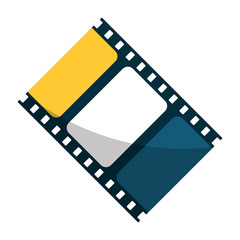 Cinema film strip icon. Movie video media and entertainment theme. Isolated design. Vector illustration