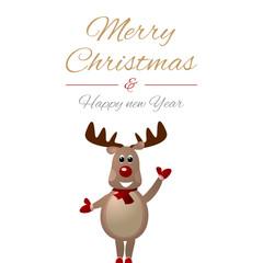 Frohe Weihnachten mit Rentier