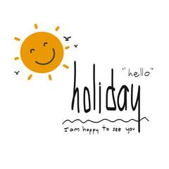 Hello holiday illustration on white background