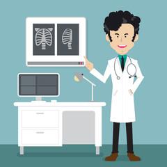 orthopedic doctors checkup x-ray bandage spine