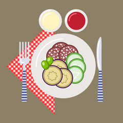 Picnic time, nature, outdoor recreation, napkin, breakfast
