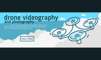 Drone Videography And Photography  Web Banner, Header, Cover.  F
