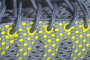 Close up shoelace