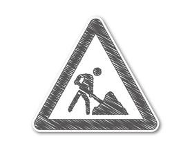 Straßenschild baustelle illustration