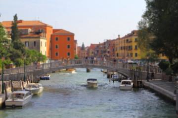Fond de hotte en verre imprimé Port Nice view of Rio Novo from Fondamenta Santa Caterina Bridge, Venice, Italy
