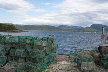 Lobster creels on the harbour