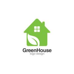 Green House Creative Concept Logo Design Template