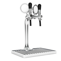 Bar Beer Tap closeup. 3d Rendering