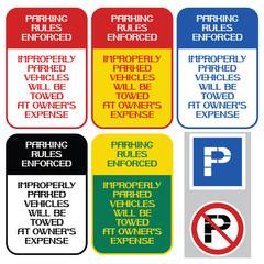 Parking rules enforced.