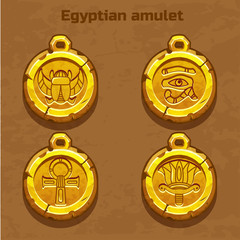 golden old egyptian amulet, resource gaming element