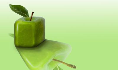 Apple green square shape