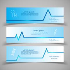 Set of Medical Banners vector illustration. EPS 10.