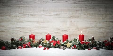 Fototapeta First Advent Candle obraz