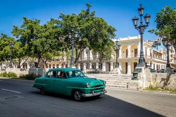 Vintage car near Paseo del Prado (Paseo de Marti) - Havana, Cuba