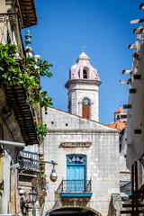 Buildings and Havana Cathedral tower - Havana, Cuba