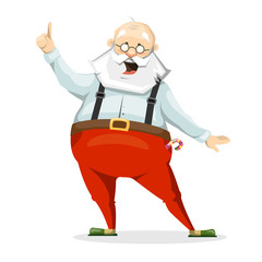The emotional character of Santa Claus in Slippers