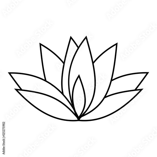 """Flower Drawing App: """"Lotus Icon. Outline Illustration Of Lotus Vector Icon For"""