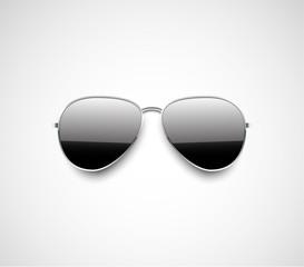 Glossy black aviator sunglasses design