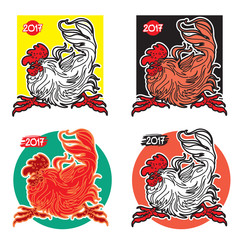 Cute Rooster - a Symbol of Eastern Calendar. Vector Illustration.