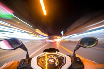 Night motorbike ride