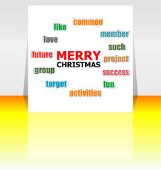 Merry Christmas greeting card - holidays lettering, Happy New Year design