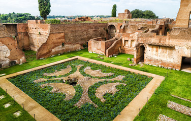 Fototapete - Ruins of the House of Augustus in Rome
