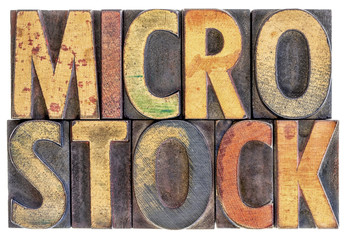 microstock word abstract in wood type