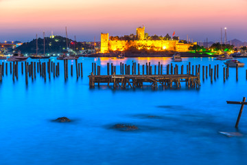 View of Bodrum Castle at Sunset, Turkey