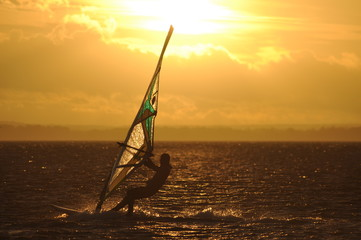 Windsurfing at Baltic Sea