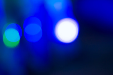 abstract blue bokeh light use for background.
