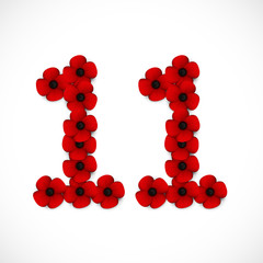 number eleven poppies