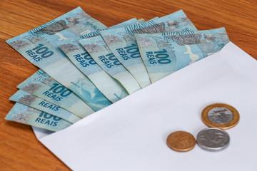 Brazil money /  reais.